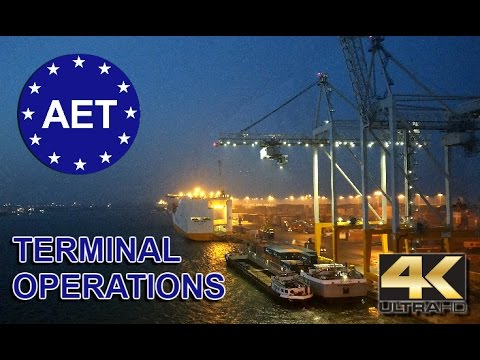 Antwerp EuroTerminal AET 2017 - Terminal operations compilation 4K UHD FCPX