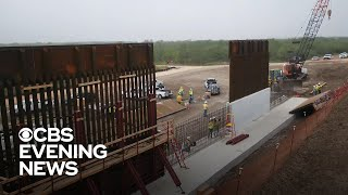 CBS News tours construction of Trump's border wall