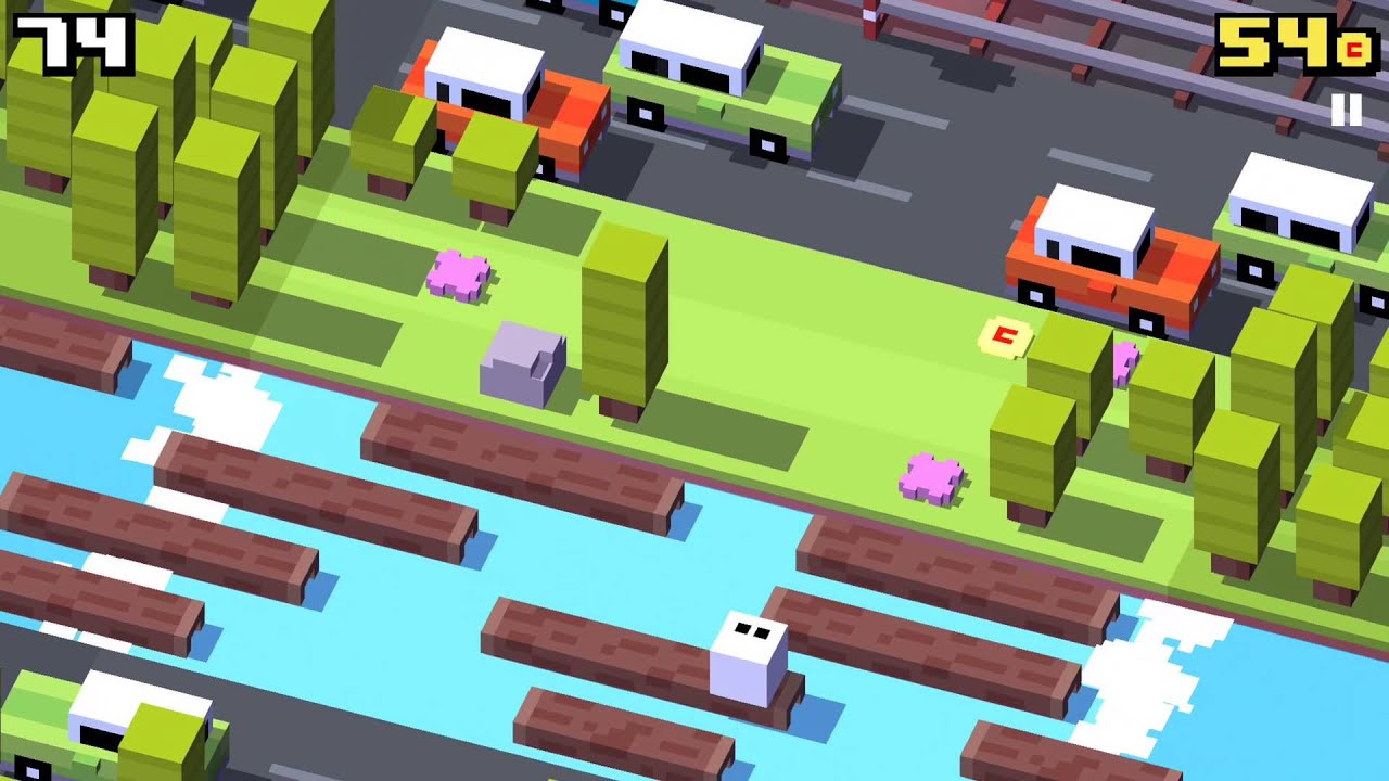 Crossy Road v Forget-Me-Not : Gameception - YouTube