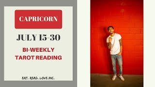 "CAPRICORN - ""THEY ARE SCARED THAT THINGS ARE GETTING SERIOUS"" JULY 15-30 BI-WEEKLY TAROT READING"