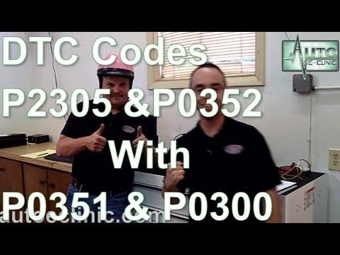 How To Diagnose A Check Engine Light :Codes P2305 P0352 P0351  P0300
