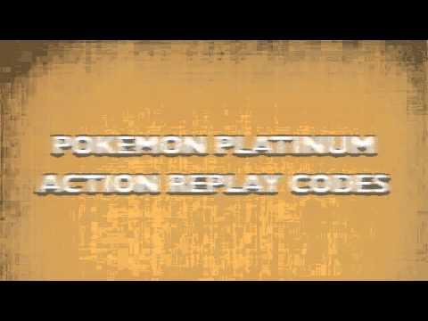 Pokemon Platinum Action Replay Codes
