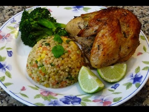 Pollo A la Cerveza, Couscous a la Mexicana Receta Cena  para el 14 de Febrero
