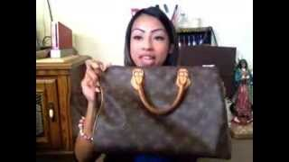 O.M.G Whats in my Louis Vuitton Speedy 30