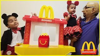 Micky Mouse Driving to McDonald's For Happy Meal | McDonalds Drive through prank