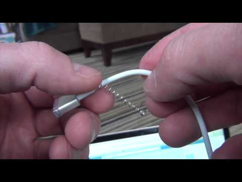 How to prevent a Macbook power cord from fraying