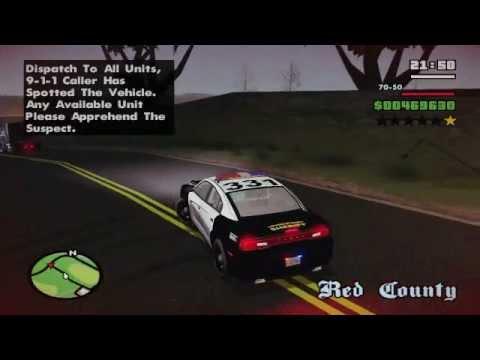 GTA SA : Police Persuit Mod - WTF!?!?