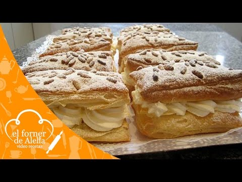 Hojaldre Relleno De Nata video