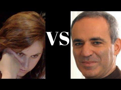 Sicilian Defence: Judit Polgar vs Garry Kasparov - Touch move controversy! - Sicilian Defense (B82)