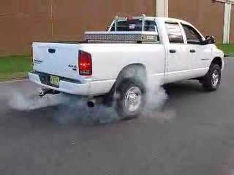 2003 Dodge Ram 2500 Cummins Turbo Diesel Burnout