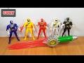 Bộ 5 anh em siêu nhân gao kiếm gọi siêu thú mới đồ chơi trẻ em power rangers gao wild force toy kids thumbnail