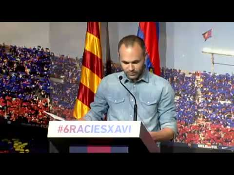 Discurso de iniesta en la despedida de Xavi