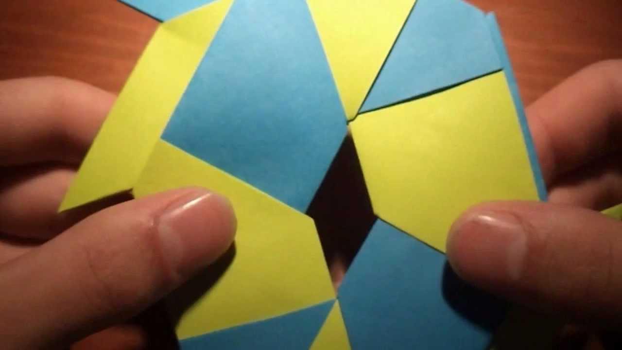 Aprende origami hacer una estrella ninja transformable - Origami de una estrella ...
