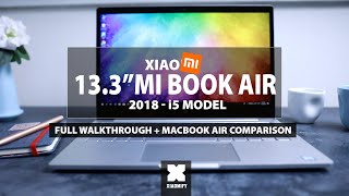 "13"" Xiaomi Mi Book Air - 2018 (vs MacBook Air, and setting it up in English)"