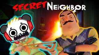 ESCAPE SCARY SECRET NEIGHBOR! Let's Play Hello Neighbor with Combo Panda vs. Big Gil