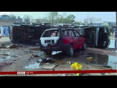 Nigeria suicide bus blasts kill 27