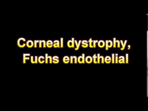 What Is The Definition Of Corneal dystrophy, Fuchs endothelial