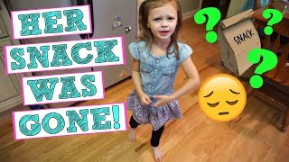 STOLEN SNACK ON THE FIRST DAY OF SCHOOl?! | September 6, 2017 | Mommy Etc