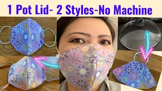 DIY Face Mask From Home-Super Easy Pattern-No Sewing Machine- May Khẩu Trang Đơn Giản Nhất