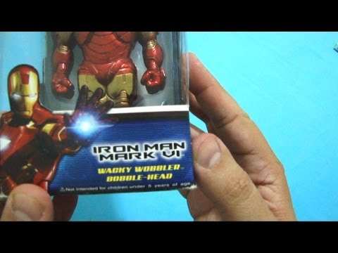 UNBOX: Game Captain America, IronMan Bobblehead + Promoo