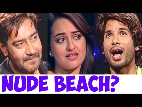 Have Sonakshi Sinha, Shahid Kapoor, John Abraham, Imran Khan & Ajay Devgn Ever Been To A Nude Beach? video