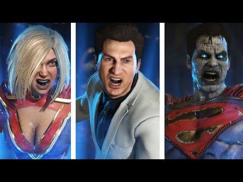 Injustice 2 - All Premier Skins: Super Moves & Victory Poses (Default/Alternate)