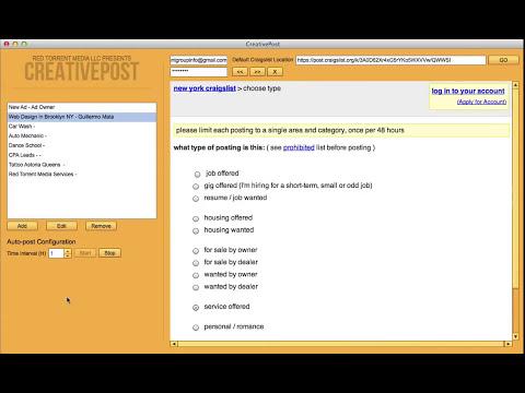 Craigslist Auto Posting Software