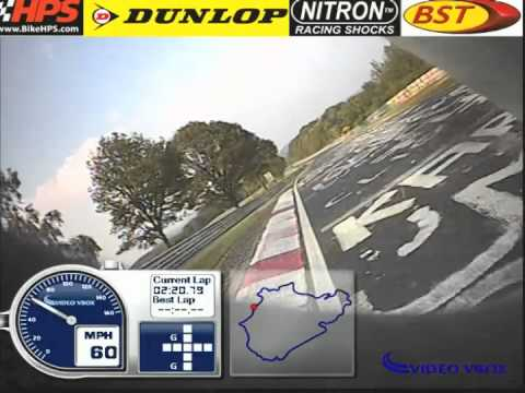 Fastest motorcycle lap of the Nürburgring. 7m10s BTG Yamaha YZF R1.