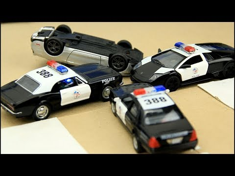 Toy police chase cars. Toys for Kids.