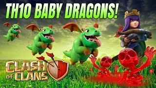 Clash of Clans: BABY DRAGONS @ TH10 w/ New Skeleton Spell!
