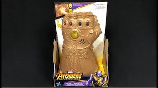 Avengers Infinity War Thanos Infinity Gauntlet with Sound Effects