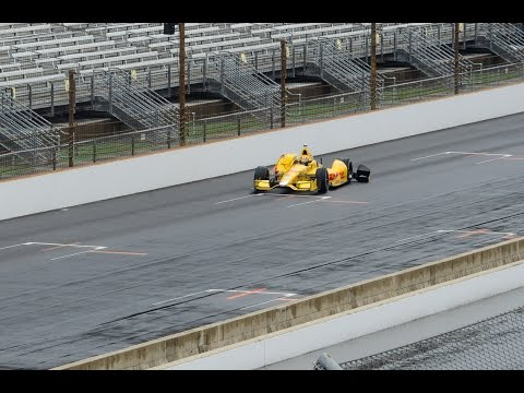 Ryan Hunter Reay qualifying crash - 2014 Grand Prix of Indianapolis