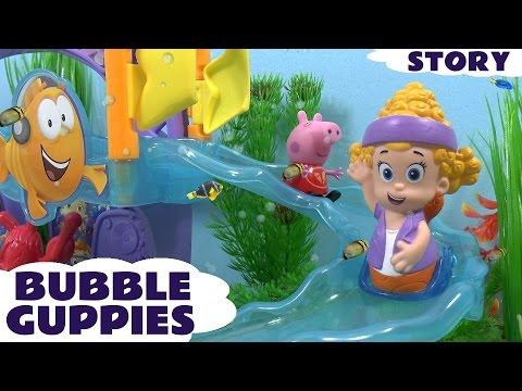 Peppa Pig Bubble Guppies Story Play Doh Mermaid Princess Frozen Dora Thomas And Friends Cars Toys video