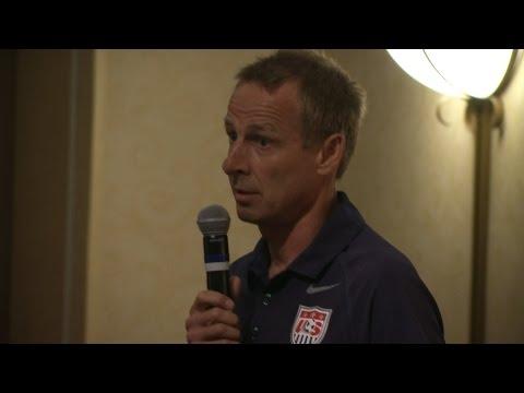 Jurgen Klinsmann Congratulates Academy Championships Field