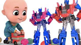 Surprise Eggs   Transformers Robot Truck Toy for Kids   Surprise Egg Videos from jugnu Kids