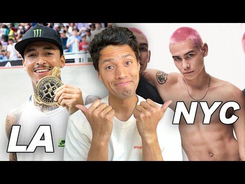 New York VS California Skate Life