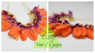 How to make: PoolaJada Daisy Veni/Poojadai Gajra / South Indian Bridal Hair Style at home