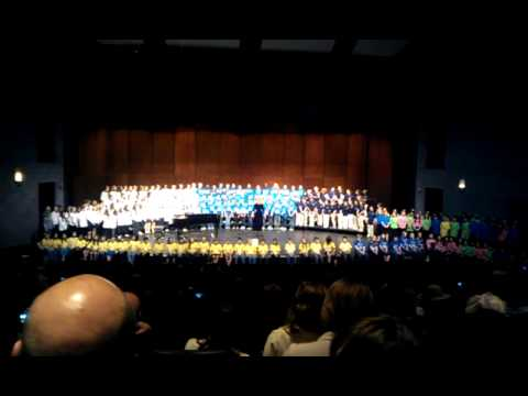 The choirs of Walled Lake Elementary schools