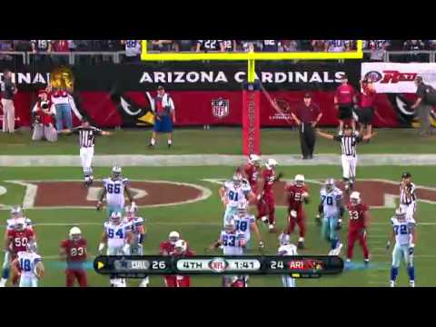 http://blacksportsonline.com presents David Buehler misses the PAT Cowboys vs. Cardinals 2010 http://twitter.com/BlkSportsOnline.