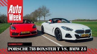 BMW Z4 vs. Porsche 718 Boxster T - Autoweek Dubbeltest - English subtitles