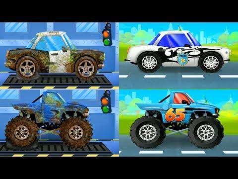 Mechanic Jon For Kids Car & Truck Repair Shop Car Repair and Car Wash Police Car  android Gameplay