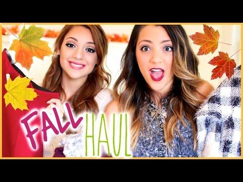 HUGE Fall Haul 2014 | Niki and Gabi