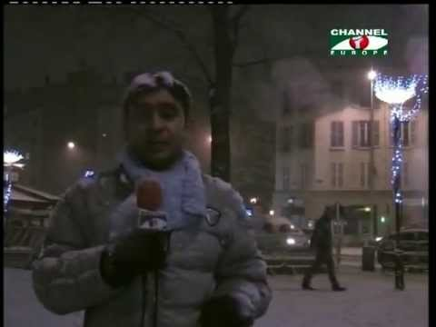 Paris Under the Snow with Gangnam Style, Channel i Europe News