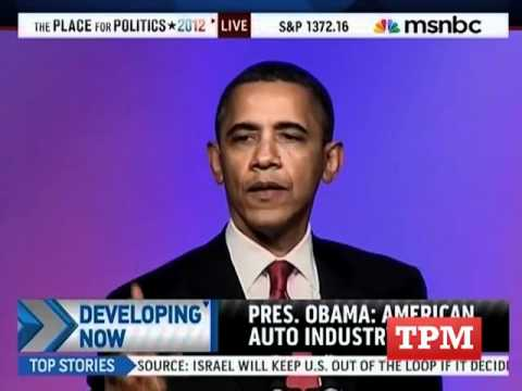 President Obama Dings Romney In UAW Speech Music Videos