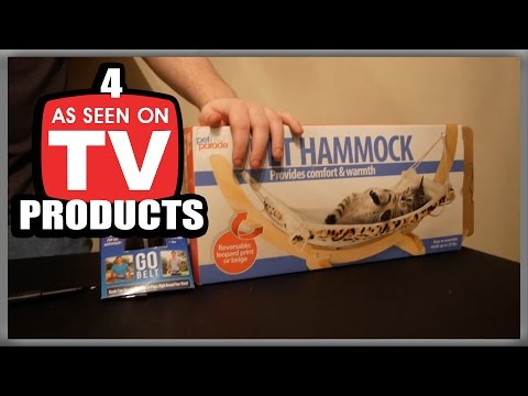 4 As Seen on TV Product Review! (Cat Hammock, Go Belt, Engraveit Pro, 5 Second Fix)