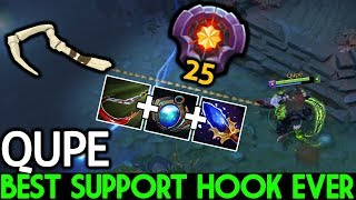 Qupe [Pudge] Best Support Pudge Ever Pro Hook Gameplay 7.21 Dota 2