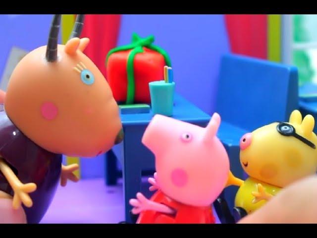 Мультфильм игрушками Свинка Пиги