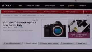 Sony A7 - A7R Firmware Update