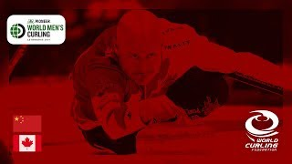 China v Canada - round robin - Pioneer Hi-Bred World Men39s Curling Championship 2019