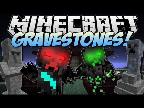 Minecraft GRAVESTONES Wither Catacombs Mod Showcase 1.6.2